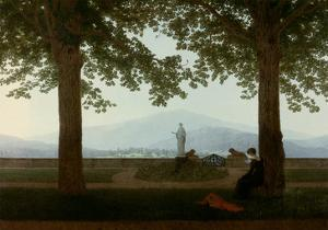Gartenterrasse (Garden Terrace) by Caspar David Friedrich