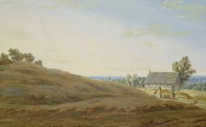 Hut with a Well on the Rugen by Caspar David Friedrich