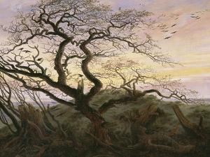 L'Arbre aux corbeaux by Caspar David Friedrich