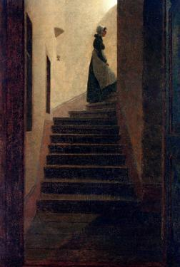 Lady on the Staircase by Caspar David Friedrich