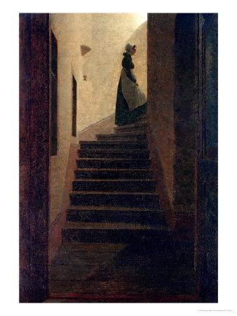 Lady on the Staircase
