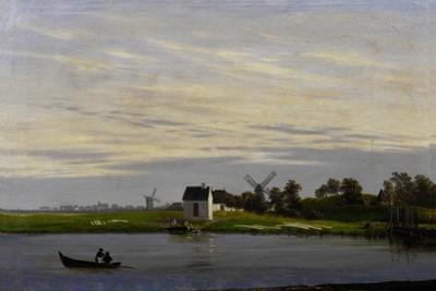 Landscape with windmills by Caspar David Friedrich