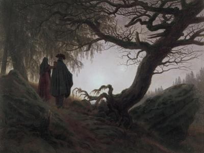 Man and Woman Contemplating the Moon by Caspar David Friedrich