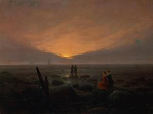Moon Rising over the Sea, 1821 by Caspar David Friedrich