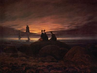 Moon Rising over the Sea, 1822 by Caspar David Friedrich