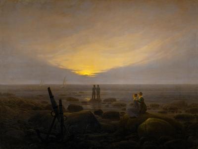 Moonrise on the seashore by Caspar David Friedrich