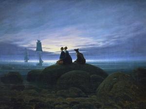 Moonrise over the Sea, 1774 by Caspar David Friedrich