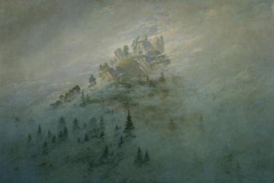 Mountain in the fog. Oil on canvas. by Caspar David Friedrich