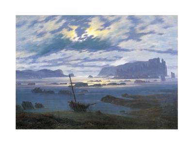North Sea in Moonlight by Caspar David Friedrich