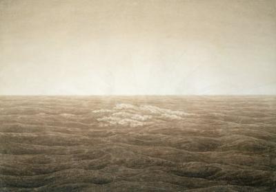 Sea at Sunrise, 1828 by Caspar David Friedrich