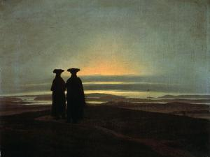Sunset (Brother), Between 1830 and 1835 by Caspar David Friedrich