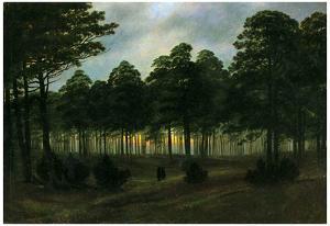 Caspar David Friedrich (The evening) Art Poster Print