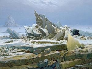 The Polar Sea, 1824 by Caspar David Friedrich