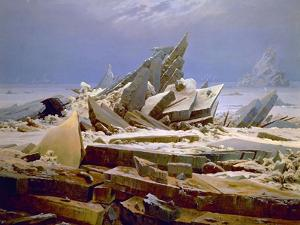 The Sea of Ice, C. 1823-1824 by Caspar David Friedrich