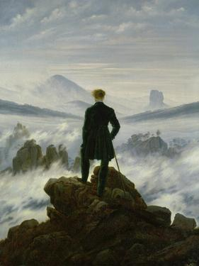 The Wanderer Above the Sea of Fog, about 1818 by Caspar David Friedrich