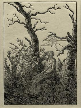 The Woman with the Cobweb Between Bare Trees by Caspar David Friedrich