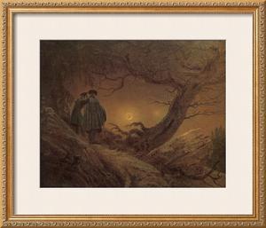 Two Man Contemplating the Moon by Caspar David Friedrich