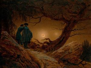Two Men Contemplating the Moon by Caspar David Friedrich