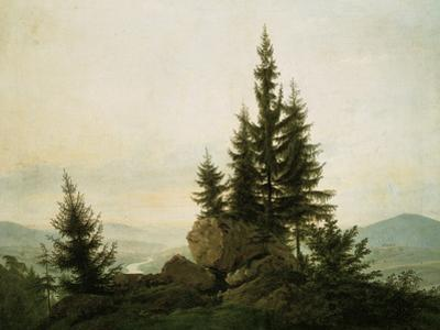 View into the Elbe Valley, 1807 by Caspar David Friedrich