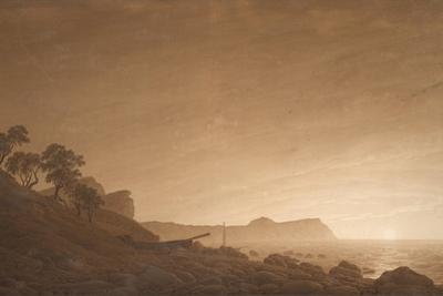 View of Arkona with Rising Moon, Ca 1806 by Caspar David Friedrich