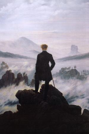 Wanderer Above the Sea of Fog by Caspar David Friedrich