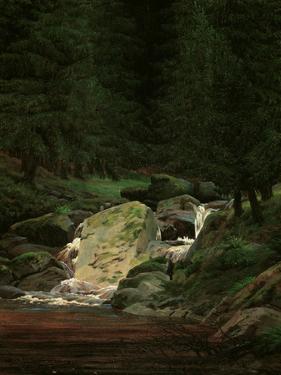 Waterfall in the Fir Wood, c.1828 by Caspar David Friedrich