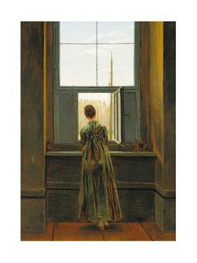 Woman at a Window, 1822 by Caspar David Friedrich