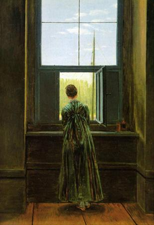 Caspar David Friedrich (Woman at the window) Art Poster Print