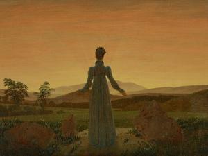 Woman before the Setting Sun, C. 1818 by Caspar David Friedrich