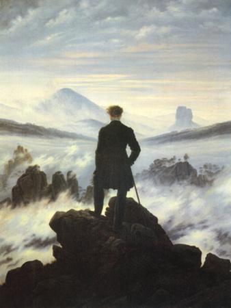 Caspar Friedrich (Wanderer Above the Sea of Fog) Art Poster Print