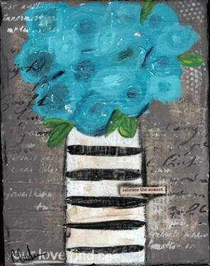 Blue Flowers by Cassandra Cushman