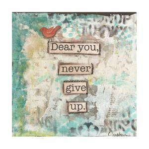 Dear You Never Give Up by Cassandra Cushman