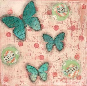 Joy Peace Butterflies by Cassandra Cushman