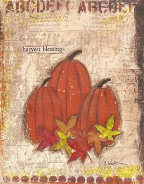 Pumpkins and Leaves by Cassandra Cushman