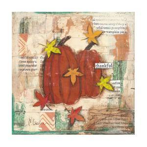 Thankful Pumpkins and Leaves by Cassandra Cushman