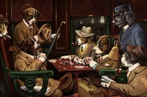 His Station And Four Aces by Cassius Marcellus Coolidge
