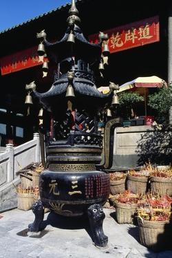 Cast Iron Stove, Taoist Temple of Sanyuan, Canton (Guangzhou), Guangdong, China