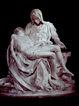 Cast of Michelangelo's 'Pieta'. the Original is in Saint Peter's in the Vatican