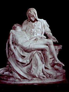 Cast of Michelangelo's 'Pieta'. the Original is in Saint Peter's in the Vatican