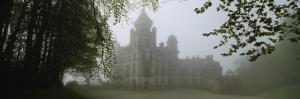 Castle Covered with Fog, Dunrobin Castle, Highlands, Scotland, United Kingdom