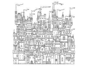 Castle & Fortress Coloring Art