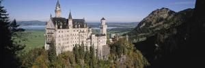 Castle on a Mountain, Bavaria, Germany