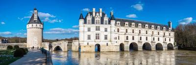 Castle over a river, Chateau De Chenonceau, Cher River, Chenonceaux, Indre-et-Loire, France