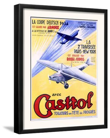 Castrol Aviation Motor Oil Poster