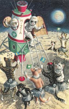 Cat Astronauts Landing on Female Cat Planet