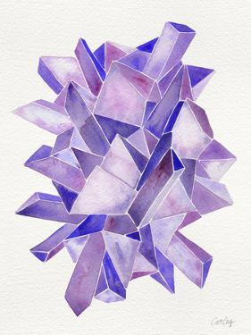 Amethyst Watercolor by Cat Coquillette