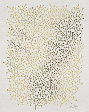 Berry Branches in Gold by Cat Coquillette