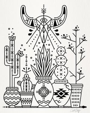 Black Santa Fe Garden by Cat Coquillette
