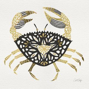 BlackGold-Crab-Artprint by Cat Coquillette