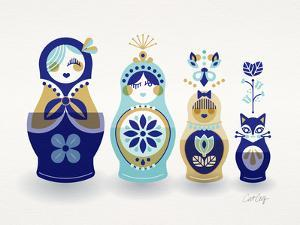 Blue and Gold Russian Dolls by Cat Coquillette